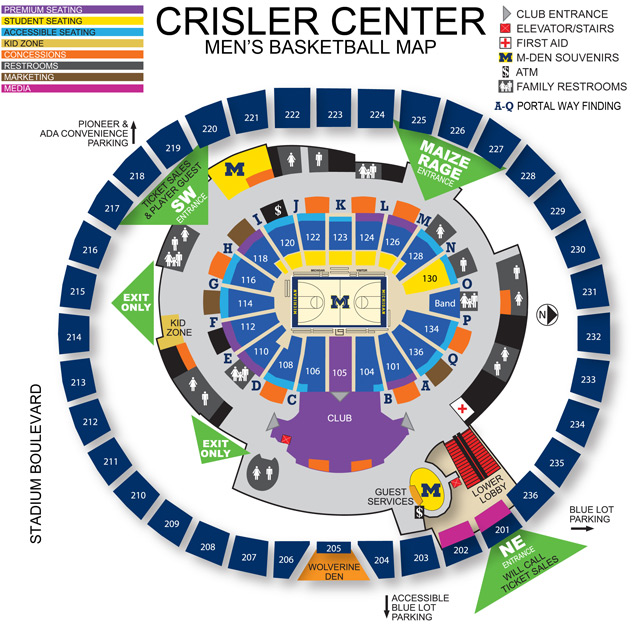 2019-20 Crisler Center Guide - University of Michigan Athletics on property boundary map, uofm campus map, northwestern map, ann arbor map, u of m map, umn map, washu map, uic map, cmu map, duke map, central campus map, msu map, mcgill map, berkeley map, brown map, high point university campus map, jfk terminal map, bu map, uiuc map, umd map,