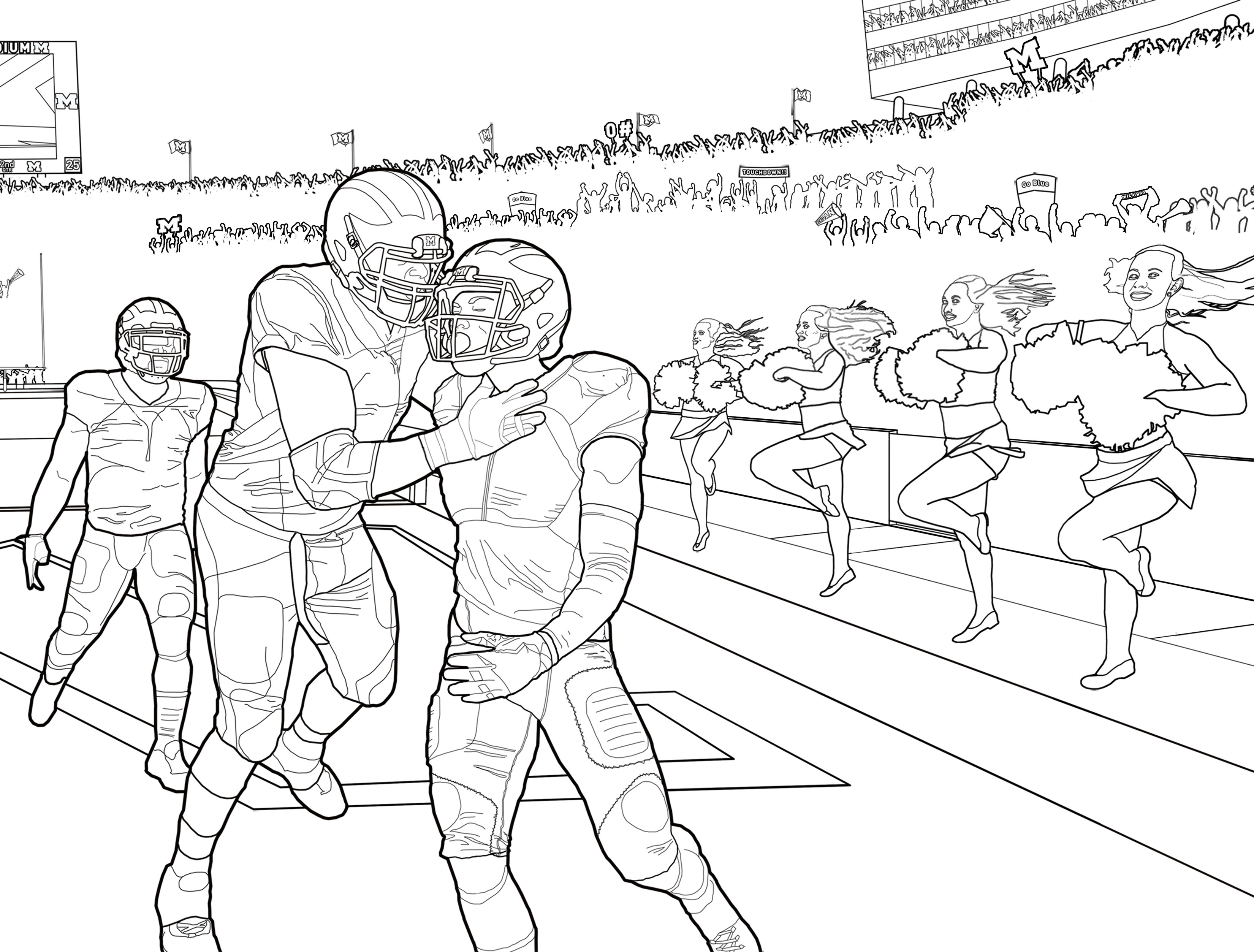 More Coloring Pages O Michigan Football