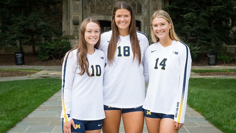Senior Trio Earns CoSIDA Academic All-District Honors - University of Michigan Athletics