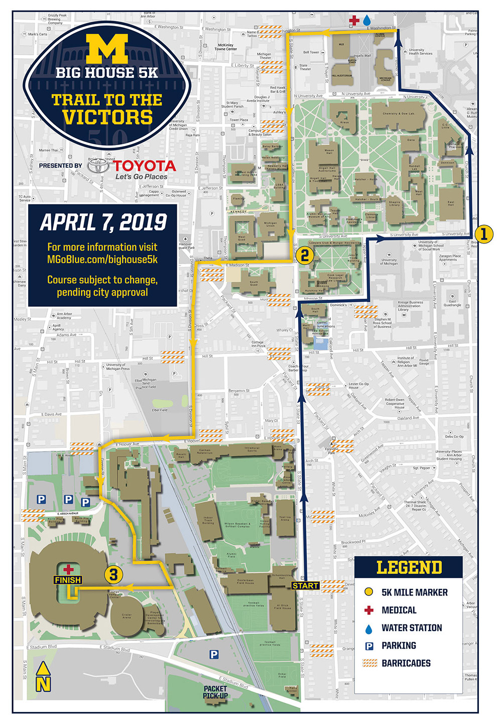 Big House 5K: Informational Maps - University of Michigan ... on map of michigan milford, map of michigan ithaca, map of michigan bay city, map of michigan taylor, map of michigan dundee, map of michigan holland, map of michigan utica, map of michigan owosso, map of michigan rochester, map of michigan south lyon, map of michigan canton, map of michigan alpena, map of michigan livonia, map of michigan new york, map of michigan northville, map of michigan wixom, map of michigan warren, map of michigan sleeping bear dunes, map of michigan garden city, map of michigan marquette,