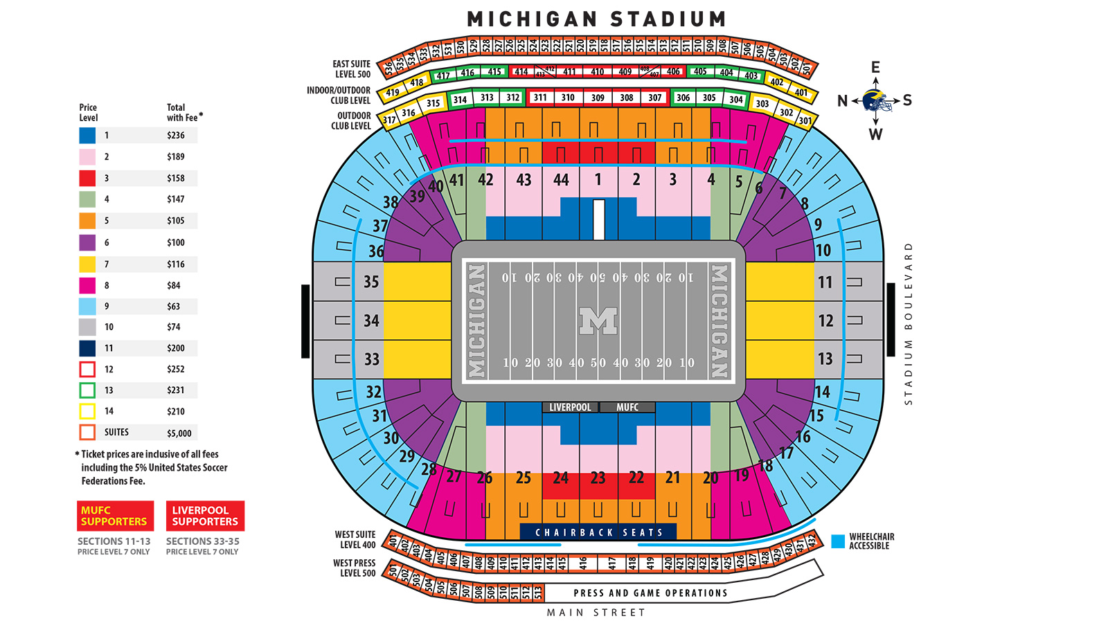 Tickets icc at michigan stadium university of michigan athletics