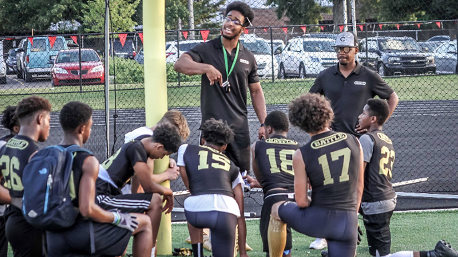 3bdf27af529 Evans, Aspiring Coach, Looks to Make Youngsters Champions On, Off the Field