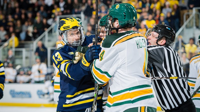 Michigan Falls to No. 11-Ranked Clarkson