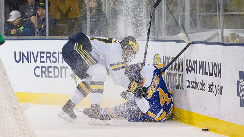 Michigan Uses Big First Period to Complete Sweep of Lake Superior State