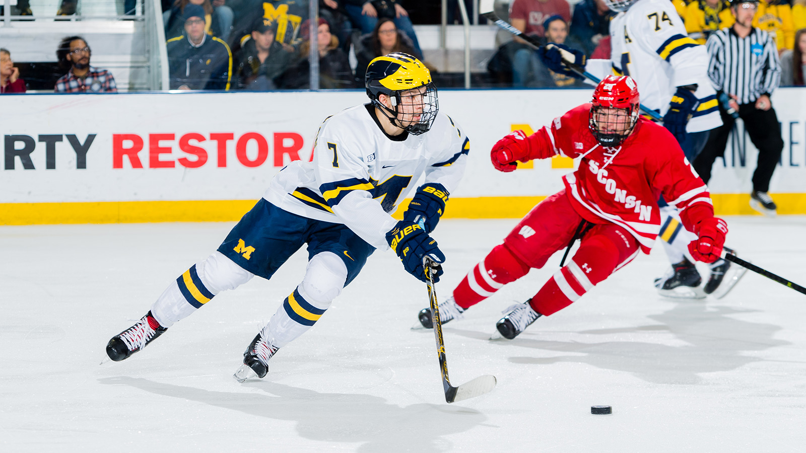 York, Lockwood Goals not Enough as Wolverines Fall at Wisconsin ...