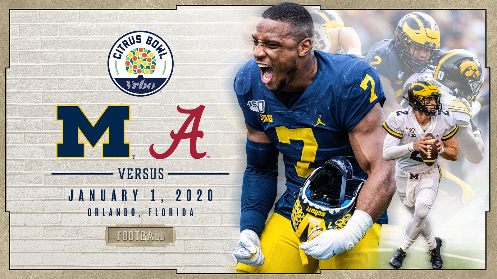 Bowl Games Jan 1 2020.Michigan To Face Alabama In 2020 Vrbo Citrus Bowl In Orlando