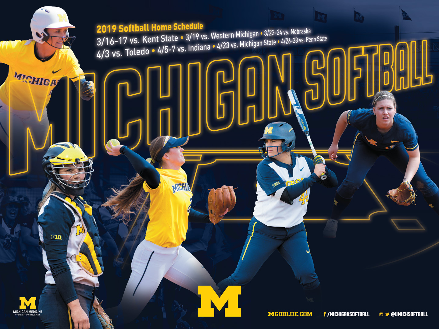 Michigan Athletics Sport Posters University Of Michigan Athletics