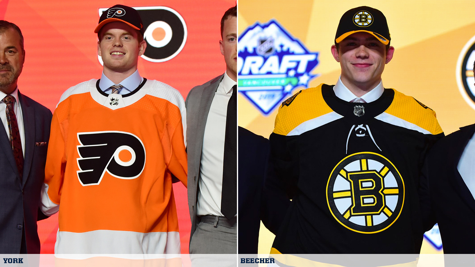 Incoming Freshmen York, Beecher Selected in First Round of 2019 NHL
