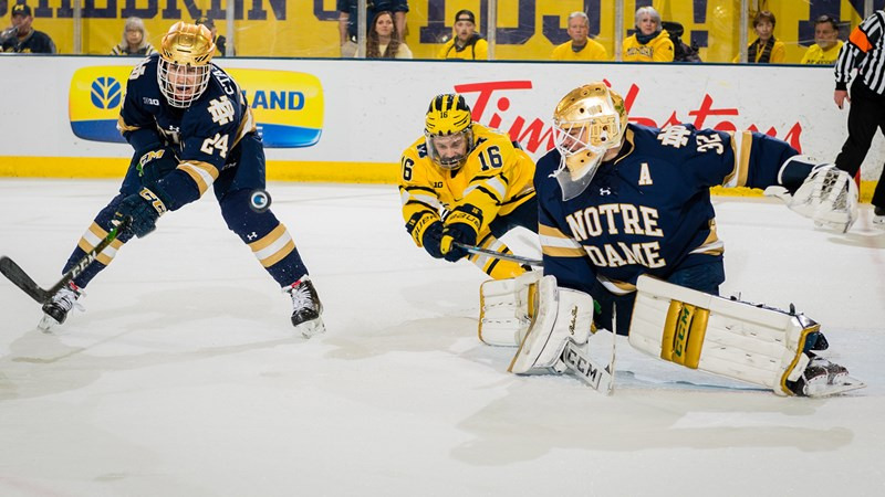 Wolverines Fall to Notre Dame in Senior-Night Home Finale - University of Michigan Athletics