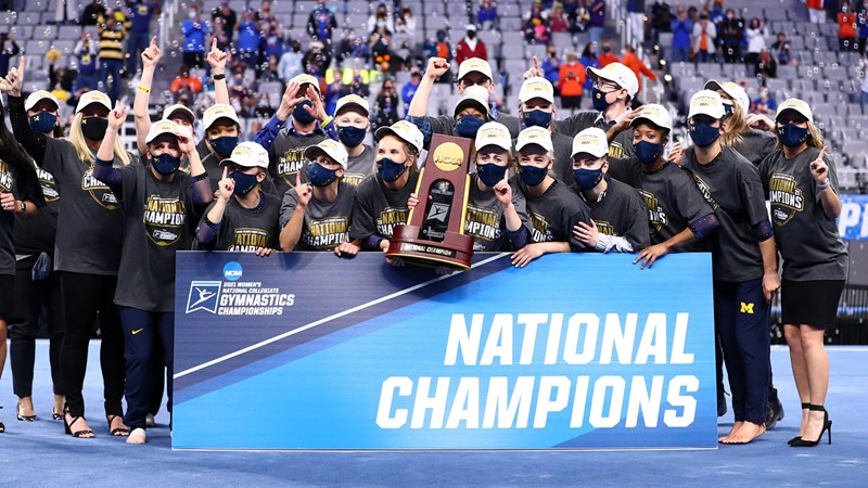 National Champs! Michigan Claims First NCAA Title with Program-Best Score - University of Michigan Athletics